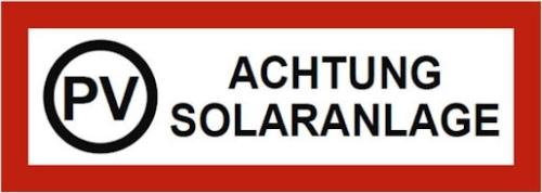 durch hinweisschild auf eine solarstromanlage aufmerksam machen photovoltaik versicherung. Black Bedroom Furniture Sets. Home Design Ideas