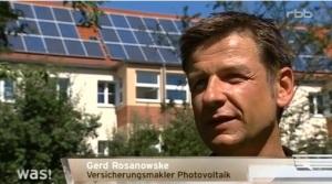 Versicherungsmakler für Photovoltaikversicherungen Gerd Rosanowske (Quelle: rbb)